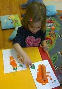 Gradinita Irina - micul artist - picture cu fructe si legume